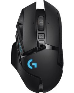 Logitech - G502 Lightspeed Wireless Optical Gaming Mouse with RGB Lighting - Black