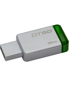 Kingston 16GB USB 3.0 DataTraveler 50 (Metal/Blue) - 16 GB - USB 3.0 - Green METAL GREEN